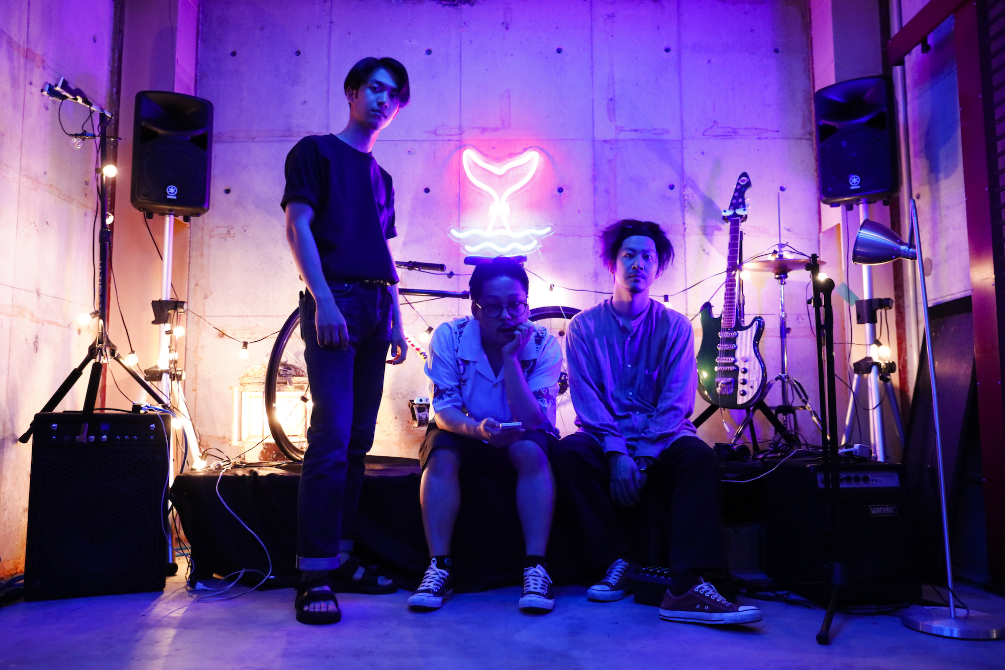 電子タバコPULZEのコンテンツで、福岡で活動するバンド「YOHLU」を撮影しました。